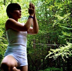 posture d'équilibre du yoga